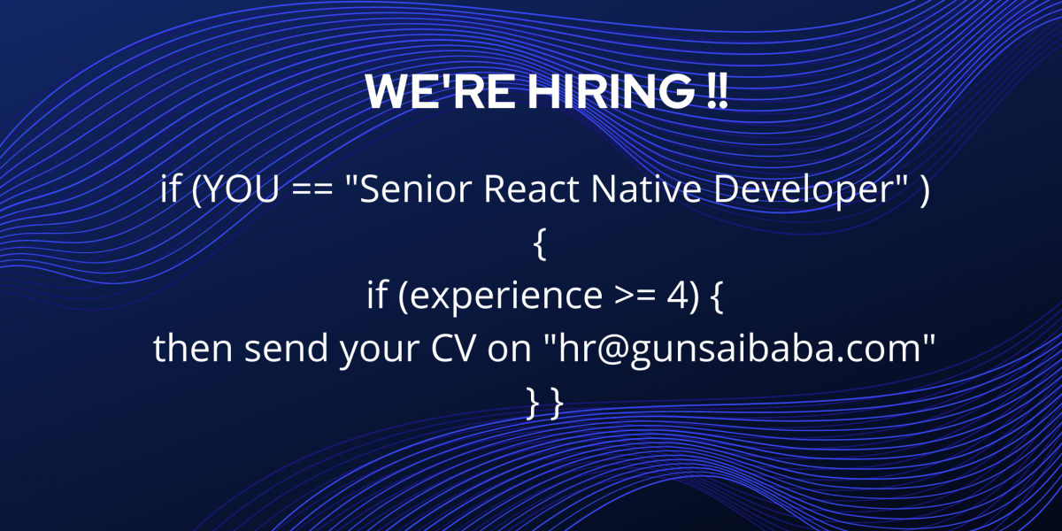 We're hiring react native
